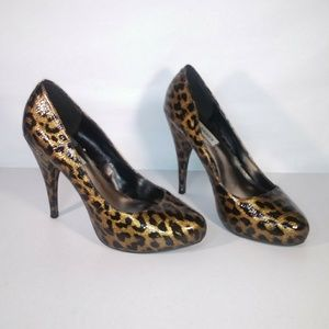 Steve Madden Heel Pumps Size 8 Black & Brown